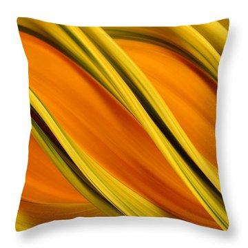 Peripheral Streak Image Of Squash Throw Pillow by Ted Kinsman