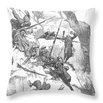 Peru: Battle Of Ayacucho Throw Pillow by Granger