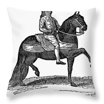 Peru: Colonial Overseer Throw Pillow by Granger