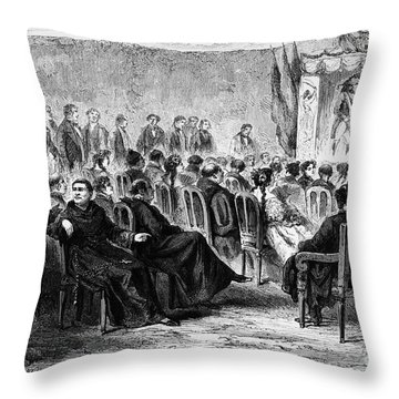 Peru: Theater, 1869 Throw Pillow by Granger