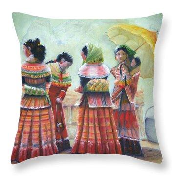 Peruvian Ladies Throw Pillow