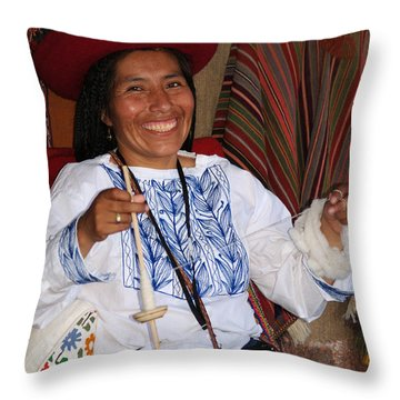Peruvian Weaver Throw Pillow