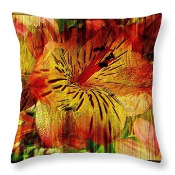 Petal Paradigm Throw Pillow by Tim Allen