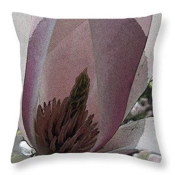 Petal Prose Throw Pillow by Tim Allen