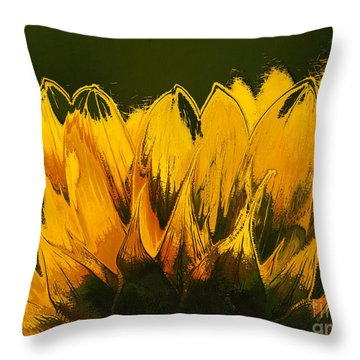 Petales De Soleil - A41b Throw Pillow by Variance Collections