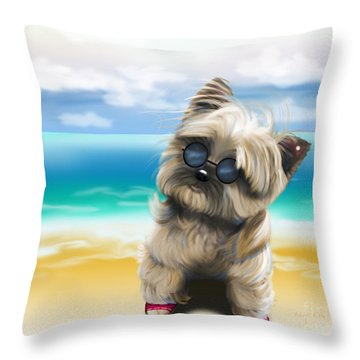 Petey In Coney Island Throw Pillow