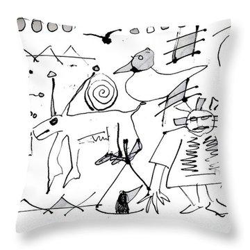 Petroglyph 1 Throw Pillow