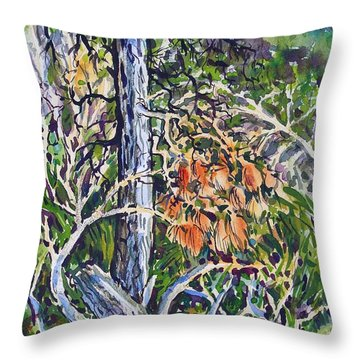 Petroglyph Pines Throw Pillow