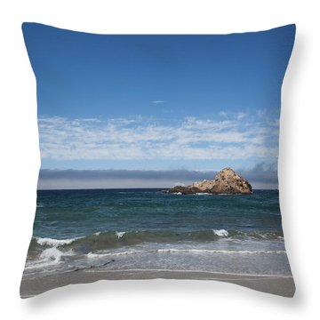 Pfeiffer Beach Throw Pillow by Ralf Kaiser