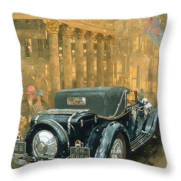 Phantom In The Haymarket  Throw Pillow by Peter Miller
