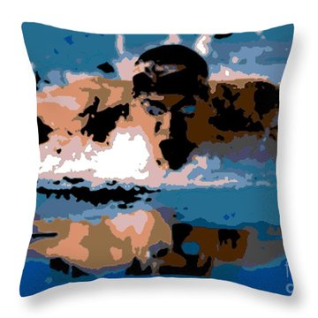 Phelps 1 Throw Pillow by George Pedro