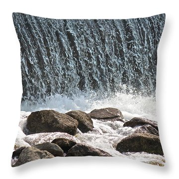 Throw Pillow featuring the photograph Phelps Mill Dam by Penny Meyers