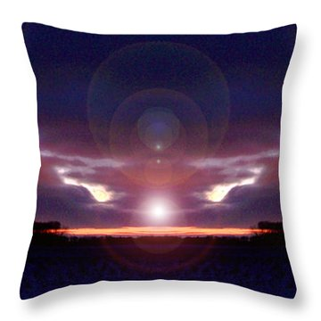Phenomenon Throw Pillow by Sue Stefanowicz