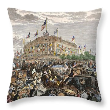 Philadelphia Expo, 1876 Throw Pillow by Granger