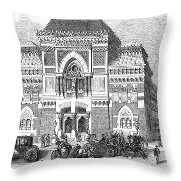 Philadelphia: Museum, 1876 Throw Pillow by Granger