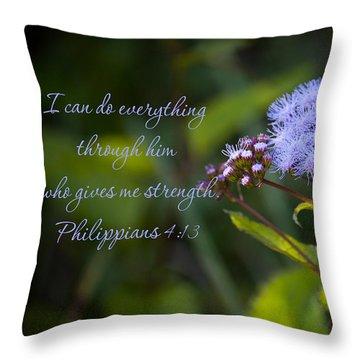 Philippians Verse Throw Pillow