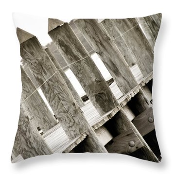 Phillies Dock Halladay Throw Pillow by Trish Tritz
