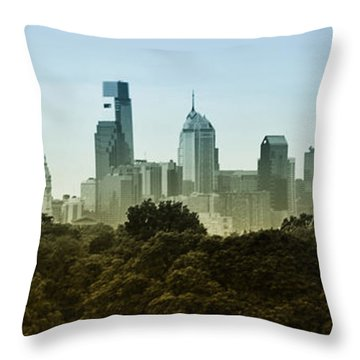 Philly Panorama Throw Pillow by Bill Cannon