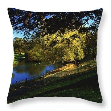 Phoenix Park, Dublin, Co Dublin, Ireland Throw Pillow by The Irish Image Collection