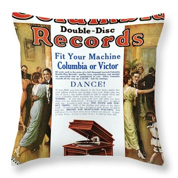 Phonograph Ad, 1914 Throw Pillow by Granger