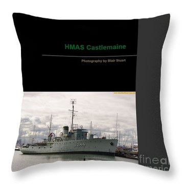 Throw Pillow featuring the mixed media Photobook On Hmas Castlemaine by Blair Stuart
