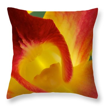 Photograph Of A Hope Orchid Flower Throw Pillow by Perla Copernik