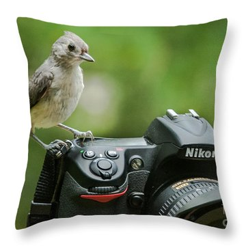 Photographer's Little Helper Throw Pillow