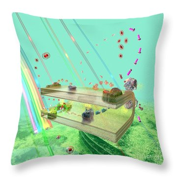 Throw Pillow featuring the digital art Photosynthesis by Russell Kightley