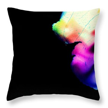Throw Pillow featuring the photograph Phycadelic Leaf by Jessica Shelton