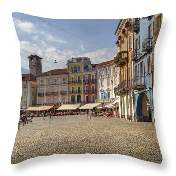 Piazza Grande - Locarno Throw Pillow by Joana Kruse