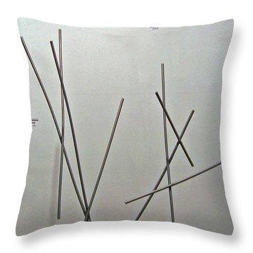 Pick Up Sticks And Thunderbird Throw Pillow by John Neumann