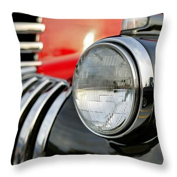 Pickup Chevrolet Headlight. Miami Throw Pillow