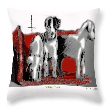 Pickup Truck Throw Pillow by C F  Legette