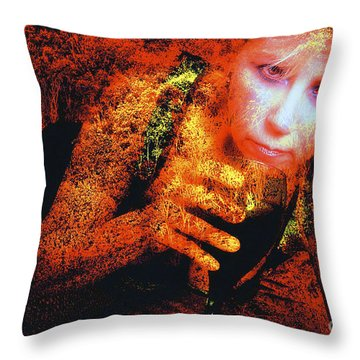 Picnic In The Forest Throw Pillow