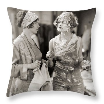 Pie In The Face Throw Pillow by Granger