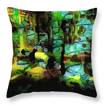 Pieces From The Past Throw Pillow by Julie Grace