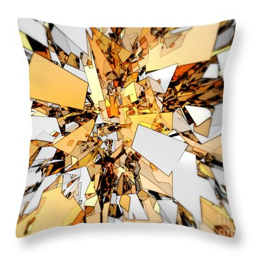 Throw Pillow featuring the digital art Pieces Of Gold by Phil Perkins