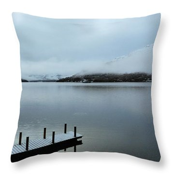Throw Pillow featuring the photograph Pier On The Loch by Lynn Bolt