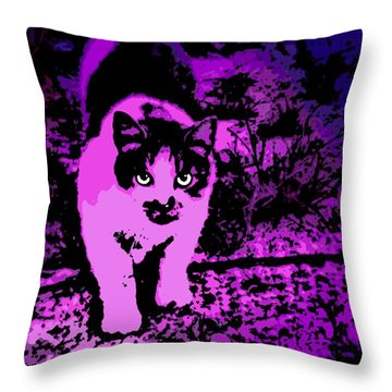 Piercing Gaze Throw Pillow by George Pedro