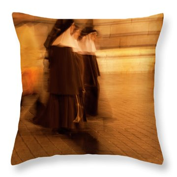 Piety In Motion Throw Pillow