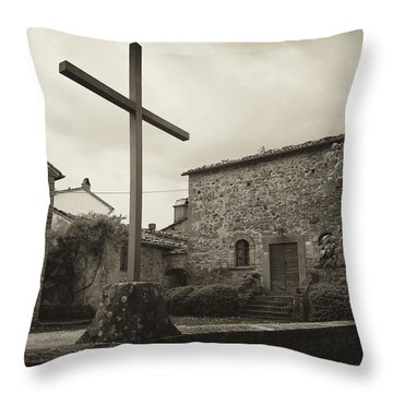 Throw Pillow featuring the photograph Pieve Di Santa Maria Alla Sovarra by Hugh Smith