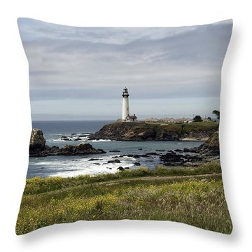 Throw Pillow featuring the photograph Pigeon Point Light Station by Paul Plaine