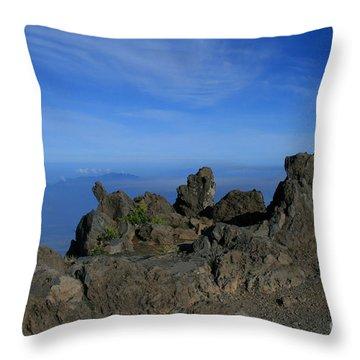 Pihanakalani Haleakala - House Of The Sun - Summit Sunrise Maui Throw Pillow by Sharon Mau