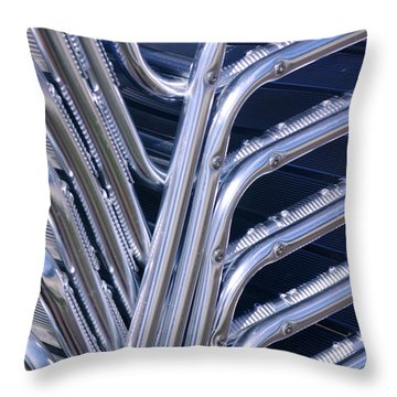 Pile Of Chairs Throw Pillow by Carlos Caetano