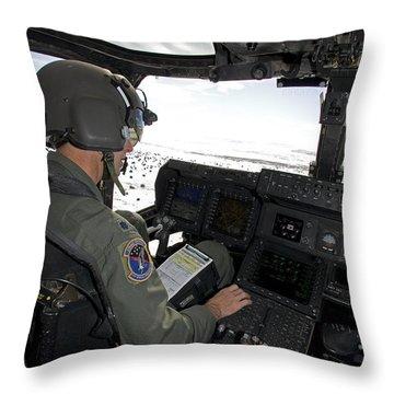 Pilot Of A Cv-22 Osprey Throw Pillow