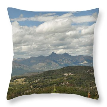 Pilot Peak Panorama Throw Pillow