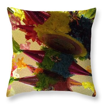 Pinatas II Throw Pillow by Anna Villarreal Garbis