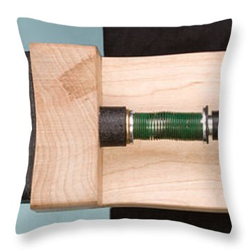 Pinball Spring Compressed Throw Pillow by Ted Kinsman