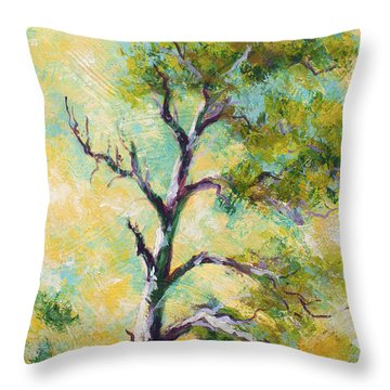 Pine Abstract Throw Pillow