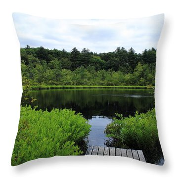 Pine Hole Pond Throw Pillow